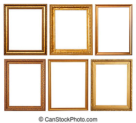 Set of 6 gold frames