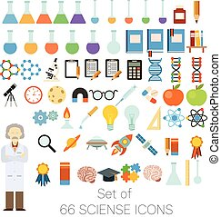 Set of 66 sciense icons