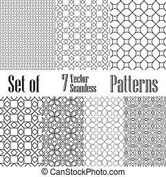 Set of 7 vector patterns