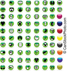 Set of 72 color icons