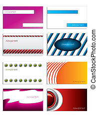 Set of 8 business cards