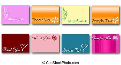 set of 8 card vectors