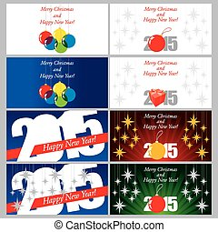 Set of 8 Christmas postcards