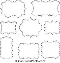 Set of 8 decorative vector unusual frames for your design.
