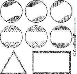 Set of 8 grunge style rubber stamps templates