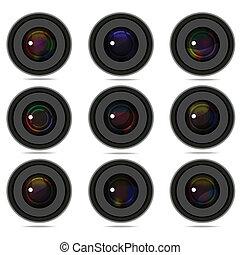 Set of 9 camera photo lens