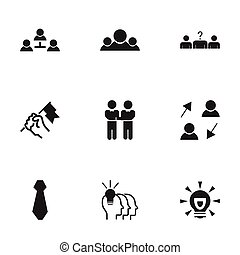 Set Of 9 Editable Business Icons. Includes Symbols Such As...