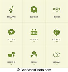 Set Of 9 Editable Heart Icons. Includes Symbols Such As Sexuality, Engagement, Valentines Day And More. Can Be Used For Web, Mobile, UI And Infographic Design.