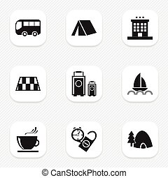 Set Of 9 Editable Holiday Icons. Includes Symbols Such As...