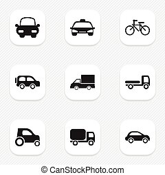 Set Of 9 Editable Shipment Icons. Includes Symbols Such As Haulage, Camion, Cycle And More