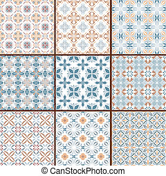 9 floral seamless patterns