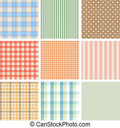 Set of 9 seamless abstract retro pattern.