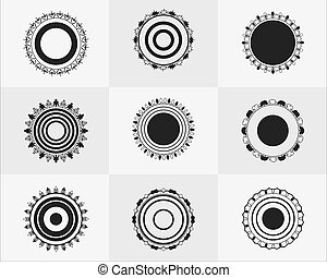 vector circle with geometric shape