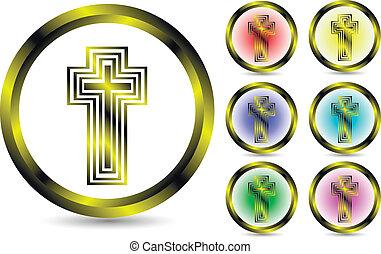 Set of a cross icon