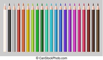 set of a real color wood pencil
