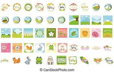 Set of a spring illustrations