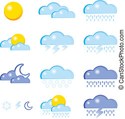 Set of a weather icon vector