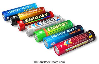 Set of AA batteries
