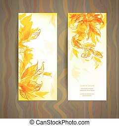 Set of abstract autumn card