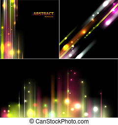 Set of abstract background
