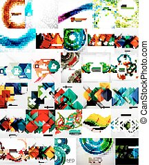 Set of Abstract Backgrounds, Business or Technology...