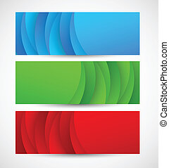 Set of abstract banners. Bright illustration