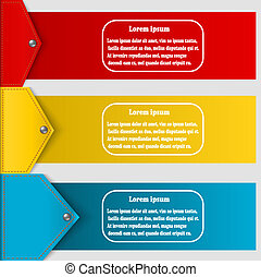Set of abstract banners to create infographics. Vector illustrat