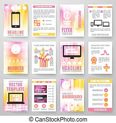 Set Template For Brochure Poster Application And Online - Brochure template online