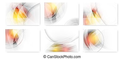 Set of abstract business futuristic innovation background.