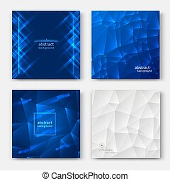 Set of abstract cards
