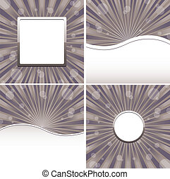 Set of abstract colorful backgrounds, part 23, vector illustration
