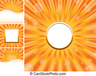Set of abstract colorful backgrounds, part 22, vector illustration