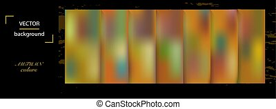 Set of abstract colorful blurred vector background