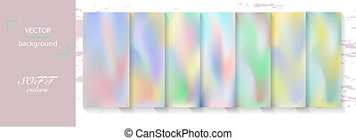 Set of abstract colorful blurred vectorbackgrounds