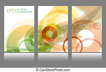 Set of abstract colorful circle