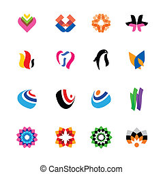 Set of abstract, colorful logos