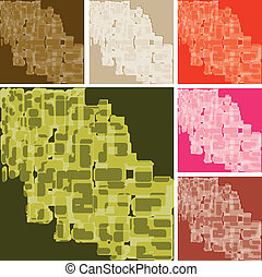Set of abstract colorful spotted backgrounds, part 20, vector illustration