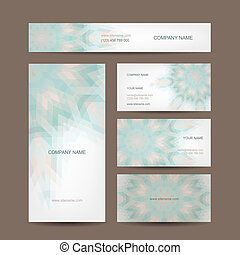 Set of abstract creative business cards design