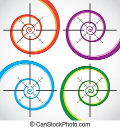 Set of abstract crosshair - illustration