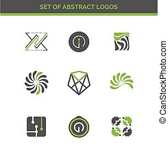 Set of abstract design logos for company