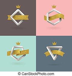 Set of abstract emblem