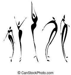 Set of abstract figure