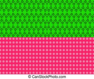 Set of Abstract flower seamless pattern background