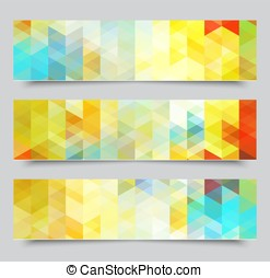 Set of abstract geometric banners eps10 vector