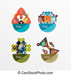 Set of abstract geometric shapes with options. Infographic...