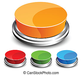 Set of abstract glossy button - Collection of abstract...