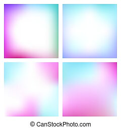 Set of abstract gradient with soft colors