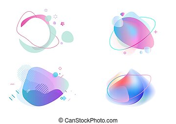 Set of abstract graphic design elements