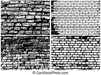 Set of Abstract Grunge Brick Wall
