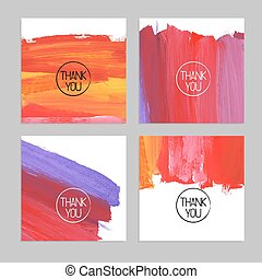 Set of abstract hand drawn acrylic backgrounds